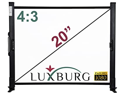 Luxburg Full Hd 3d Tischleinwand 20 Zoll 43 41x30 Cm Farbe Weiß Beamer Leinwand