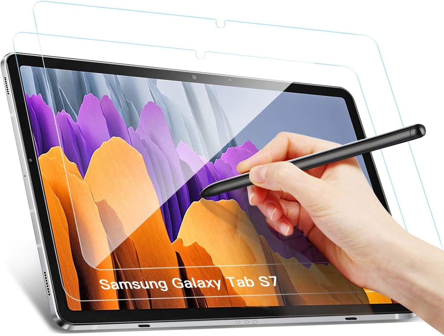 Benazcap Samsung Galaxy Tab S7 Screen Protector Rounded Corners 2 5d 9h Hardness Tempered Screen Protector Glass Tempered Glass For Samsung Galaxy Tab S7 11 Inch 2020 Pack Of 2 Elektronik