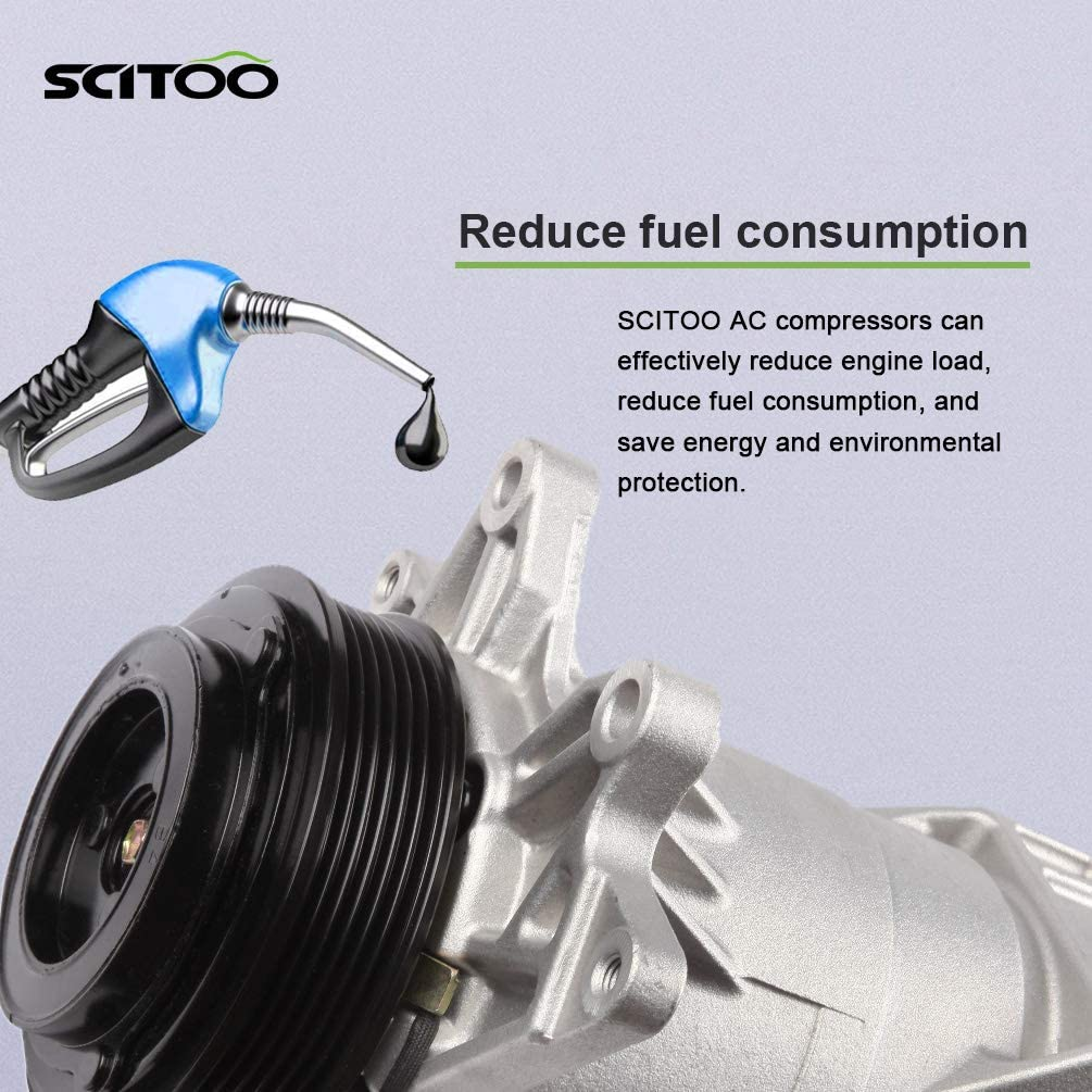 SCITOO Compatible with A//C Compressor with cluth CO 10863JC fits 2003 2004 2005 2006 2007 3.5L