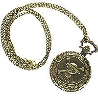 CoolChange One P Reloj de Bolsillo con el Jolly Rogers de los Piratas Sombrero de Paja