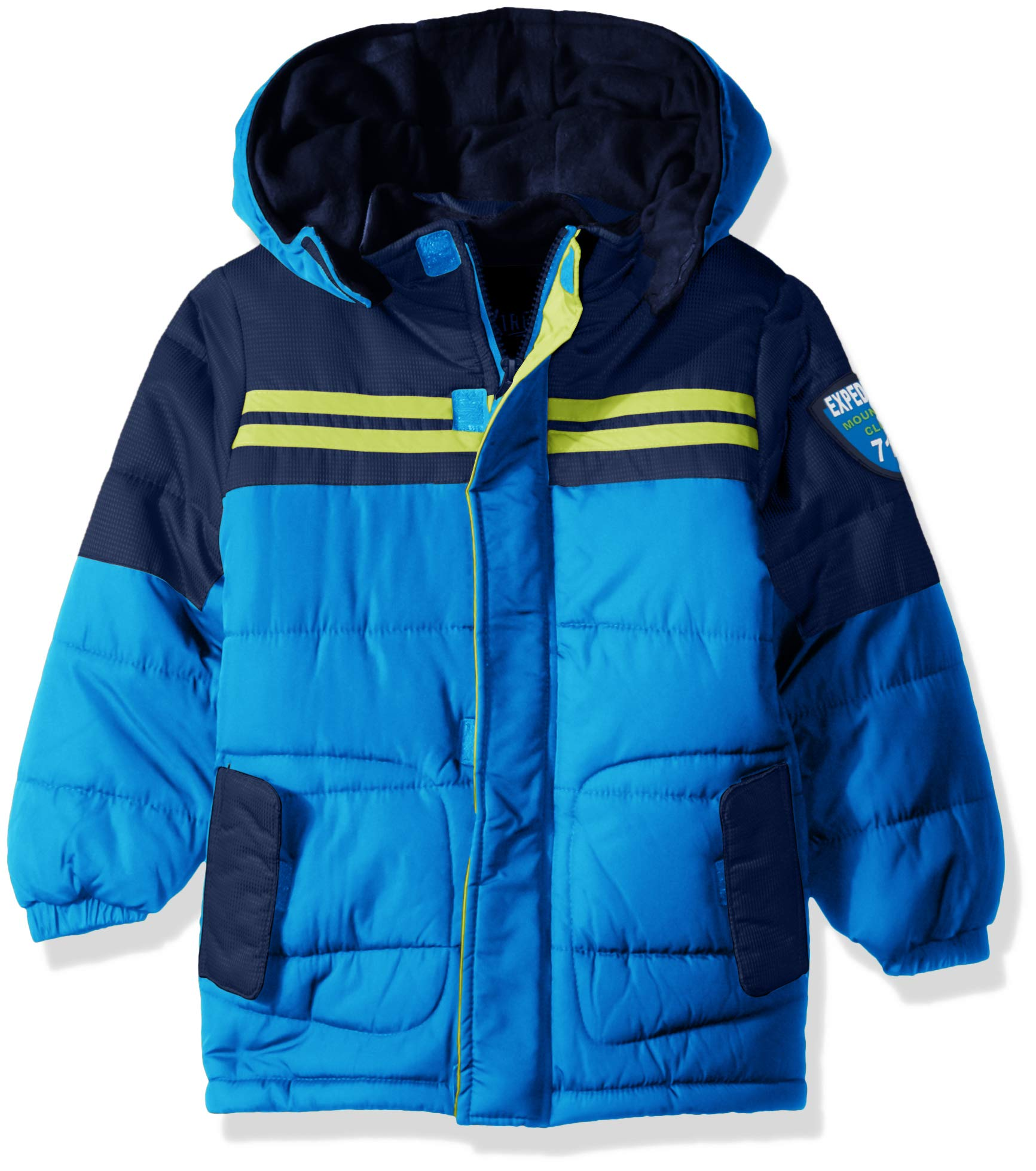 iXtreme Boys' Little Colorblock Expedition Puffer, Royal, 6