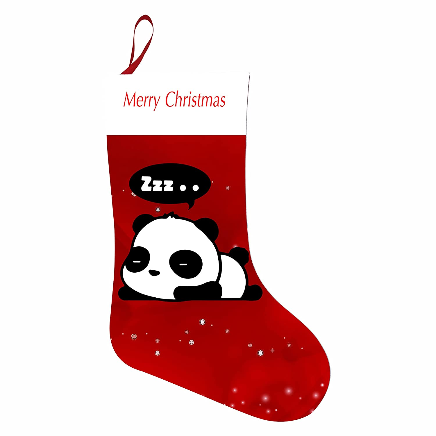 VOPSKJ14 Christmas Stocking Lazy Panda Santa Sack Presents Gift Kit Candy Bag