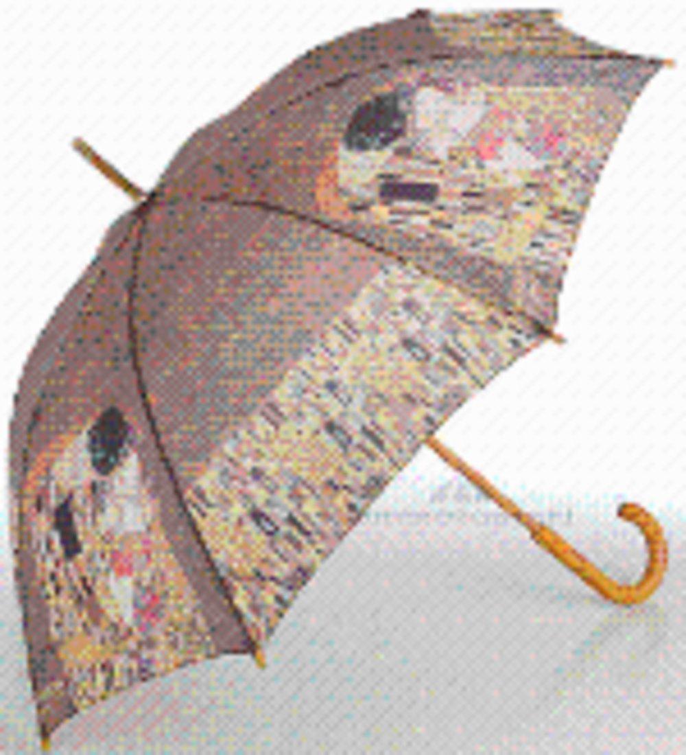 Gustav Klimt - El Beso Mango de Madera Manual Bastón Paraguas: Amazon.es: Jardín