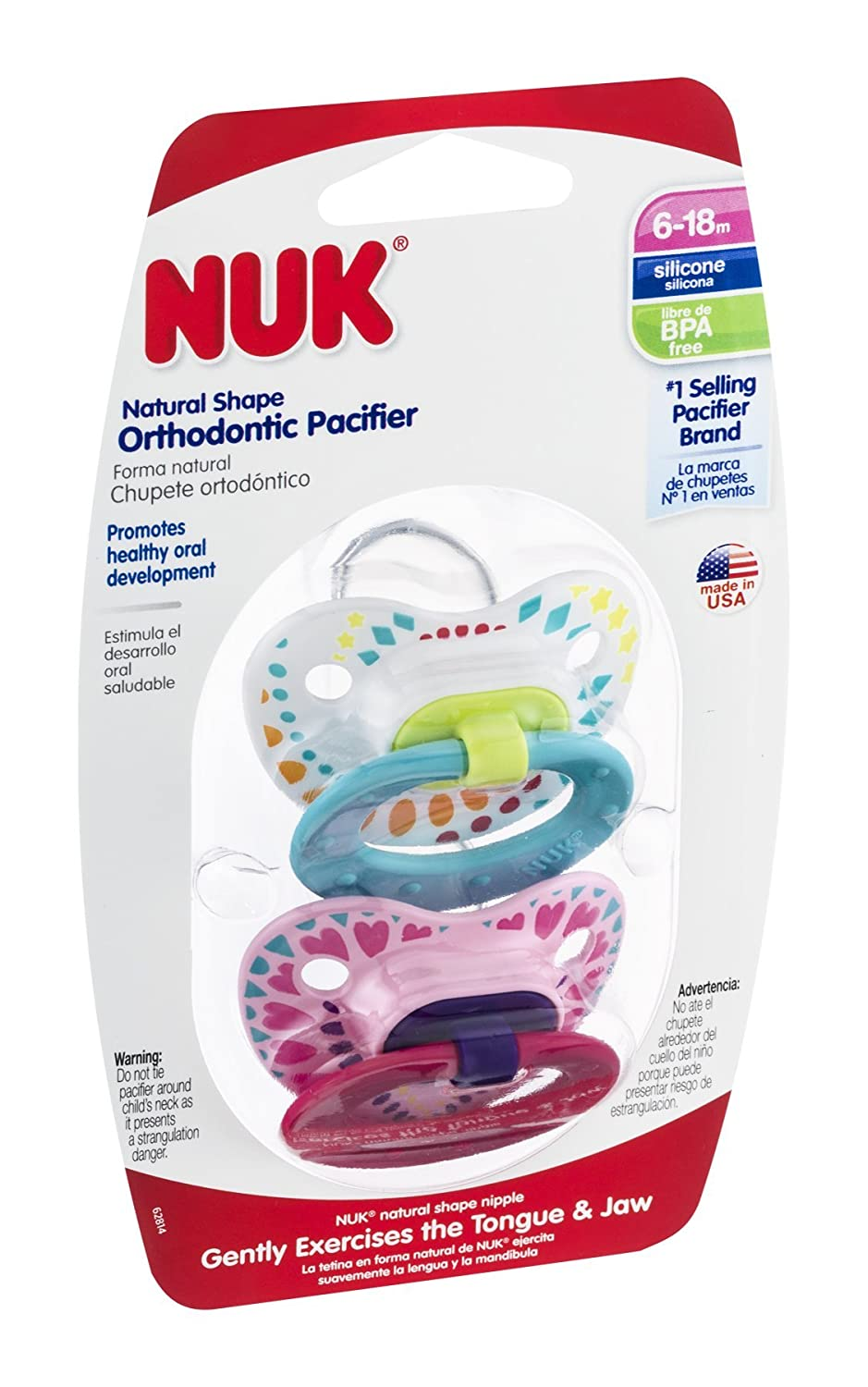 Amazon.com : Nuk 62814 Fashion Pacifier Assorted Styles 2 ...