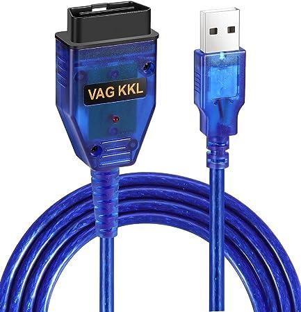 USB Cable KKL VAG-COM 409.1 OBD2 II OBD Diagnostic Scanner VW//Audi//Seat VCDS