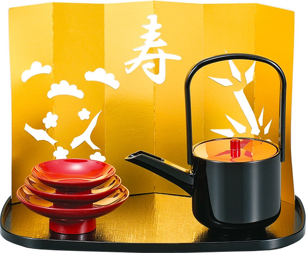 Kano tosoki Japanese sake set