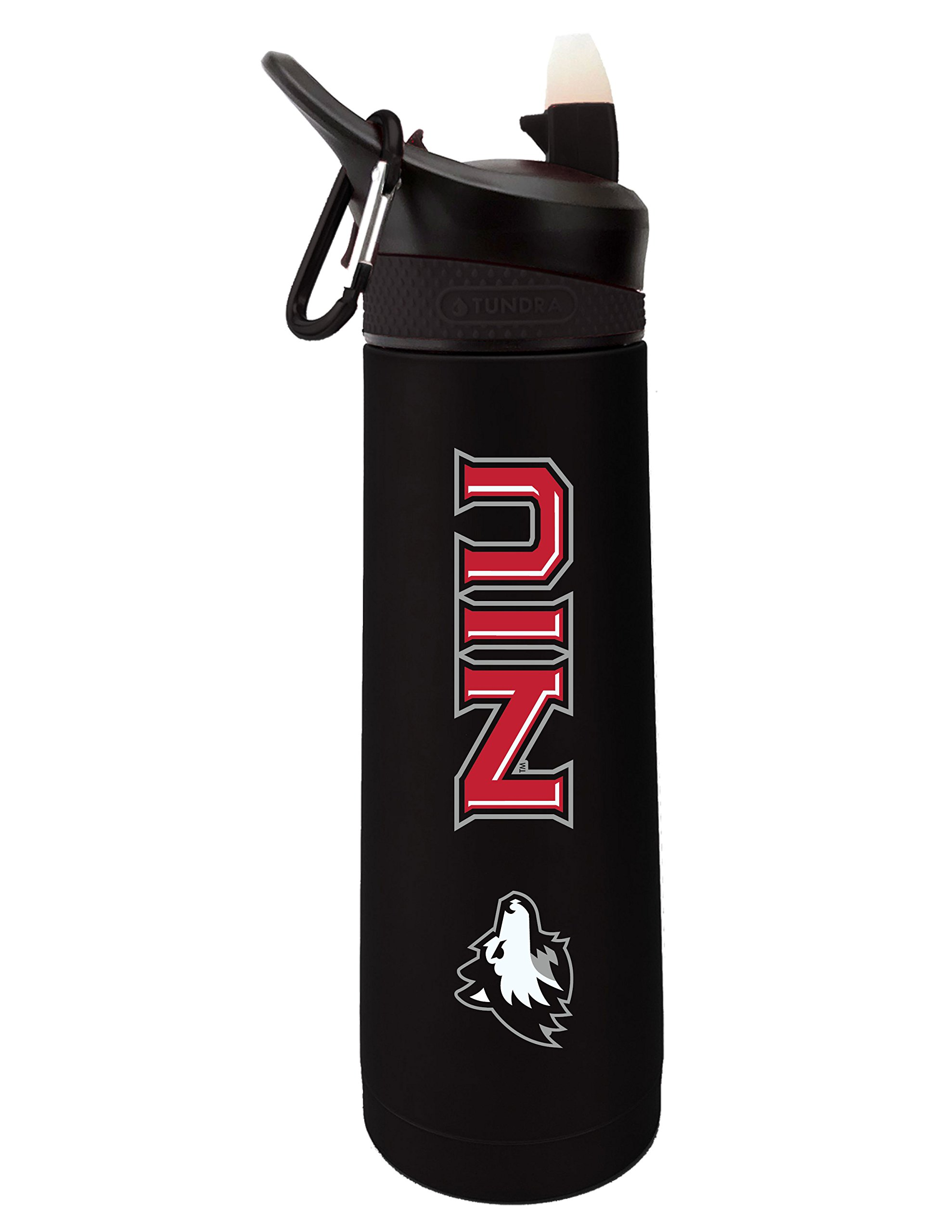 Fanatic Group Northern Illinois University Dual Walled Stainless Steel Sports Bottle, Design 1 - Black