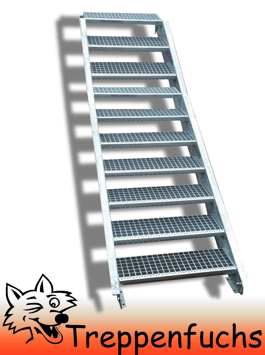 10 Stufen / 100cm breit / Höhe 150 - 200cm