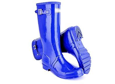 Hunter Sporting Hares Glossy Women's Wellingtons - Uk's comfiest Wellies/Rain  Boots (Like,
