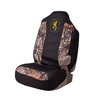 Browning Camo Seat Cover | Universal Fit | Mossy Oak Break-Up Country/Black/Gold | Single: Clothing
