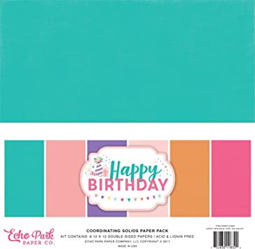 12 Designs Its Your Birthday Boy ECHO PARK PAPER COMPANY YBB201023 YOUR BDAY PAPER 6X6 PAD