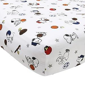 Bedtime Originals Snoopy Sports Sheet