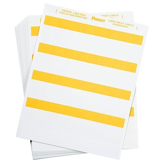 Amazon Panduit S050X075YAJ Laser Inkjet Self Laminated Label Polyester Clear White 5000 Pack Industrial Scientific