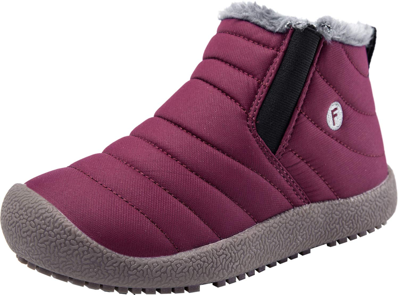 Barerun Warm Short Ankle Boot (Toddler/Little Kid/Big Kid) Red 11.5 M US Little Kid