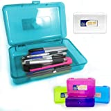 Plastic Pencil Box Case Kids School Office Suppliies Pen Art Craft Organizer New