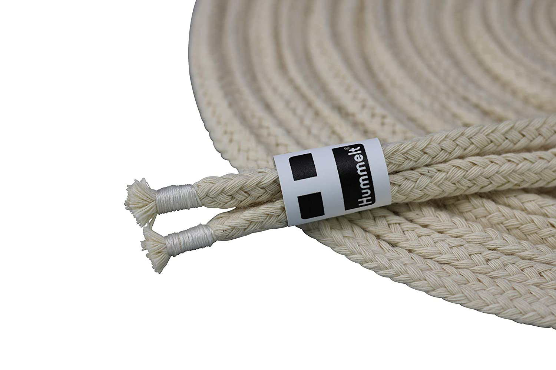 beige 3er-Set 8mm 5m natur H Hummelt/® SilverLine-Rope Baumwollseil Baumwollkordel mit Takling