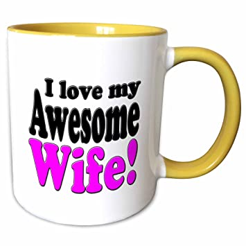 Amazoncom 3drose Evadane Funny Quotes I Love My Awesome Wife