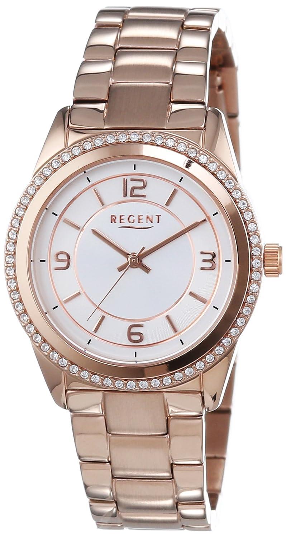 Regent Damen-Armbanduhr XS Analog Quarz Edelstahl beschichtet 12210923