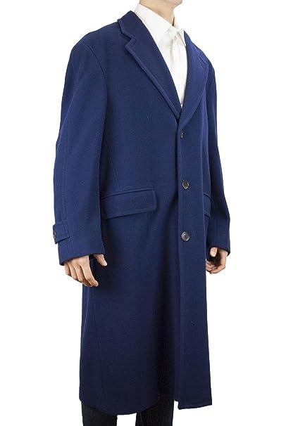 Fendi Vintage - Cappotto Lungo Uomo 48 M Blu Navy Panno Lana 3Bottoni Blu 73893960f08