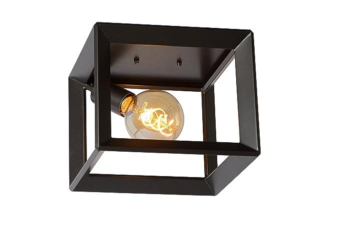 Lucide lampada da soffitto grigio ghisa metallo thor e w