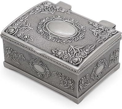 AVESON - Caja de joyería pequeña rectangular de metal vintage para niñas y mujeres: Amazon.es: Bricolaje y herramientas