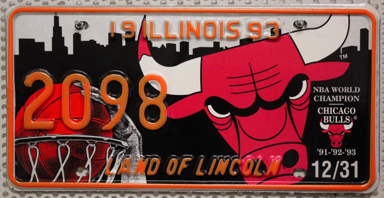 USA Nummernschild ILLINOIS ~ US Kennzeichen ~ License Plate ...