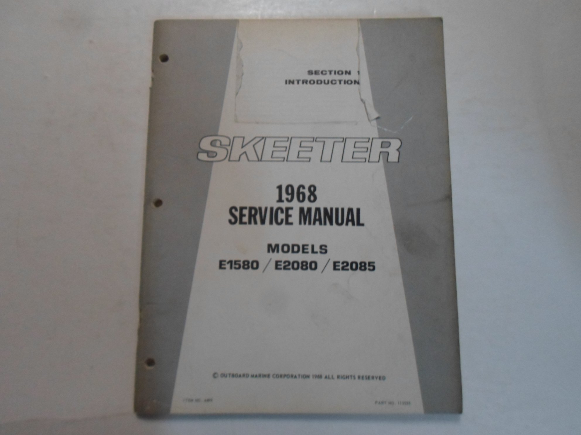 Array - 1968 evinrude skeeter models e1580 e2080 e2085 service      rh   amazon com