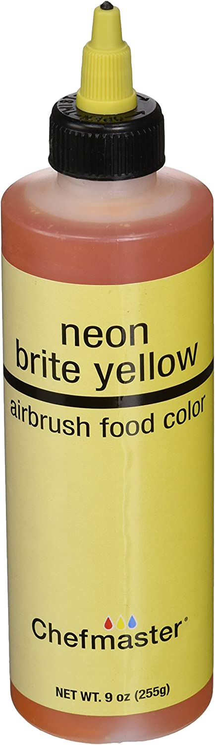 Chefmaster Airbrush Spray Food Color, 9-Ounce, Neon Brite Yellow