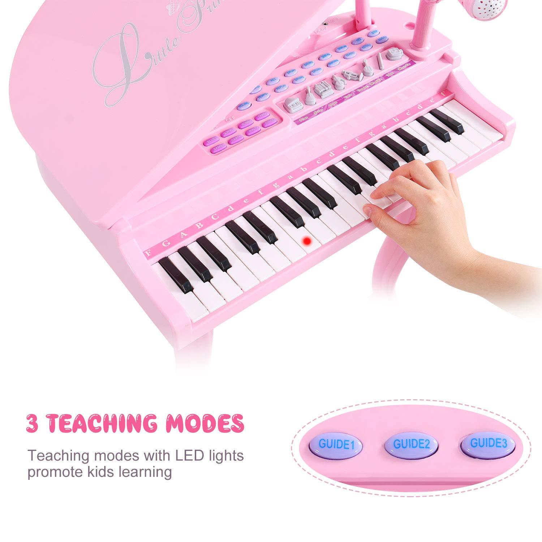 Stile-9 Giocattolo Tamburo a Mano SGILE Musicale per Bambini Regalo Perfetto di Natale per Bimbi Giocattolo Educativo Prima Infanzia Tamburo e Pianoforte con Adorabili Suoni