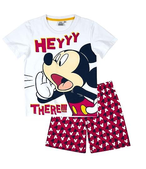 Disney Mickey Chicos Pijama mangas cortas - Blanco - 116: Amazon.es: Ropa y accesorios