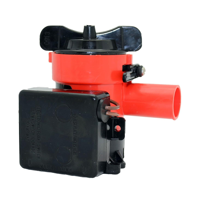 Johnson 1250 GPH Ultima Combo Pump (1-1/8-Inch Hose 12V) Acr Electronics 3001.3840