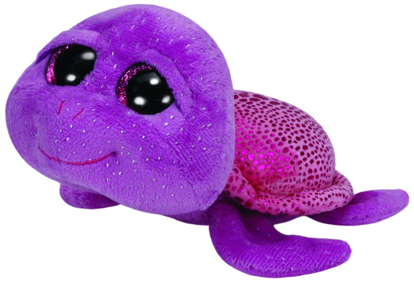 Ty - Slowpoke, peluche tortuga, 23 cm, color lila (37000TY)