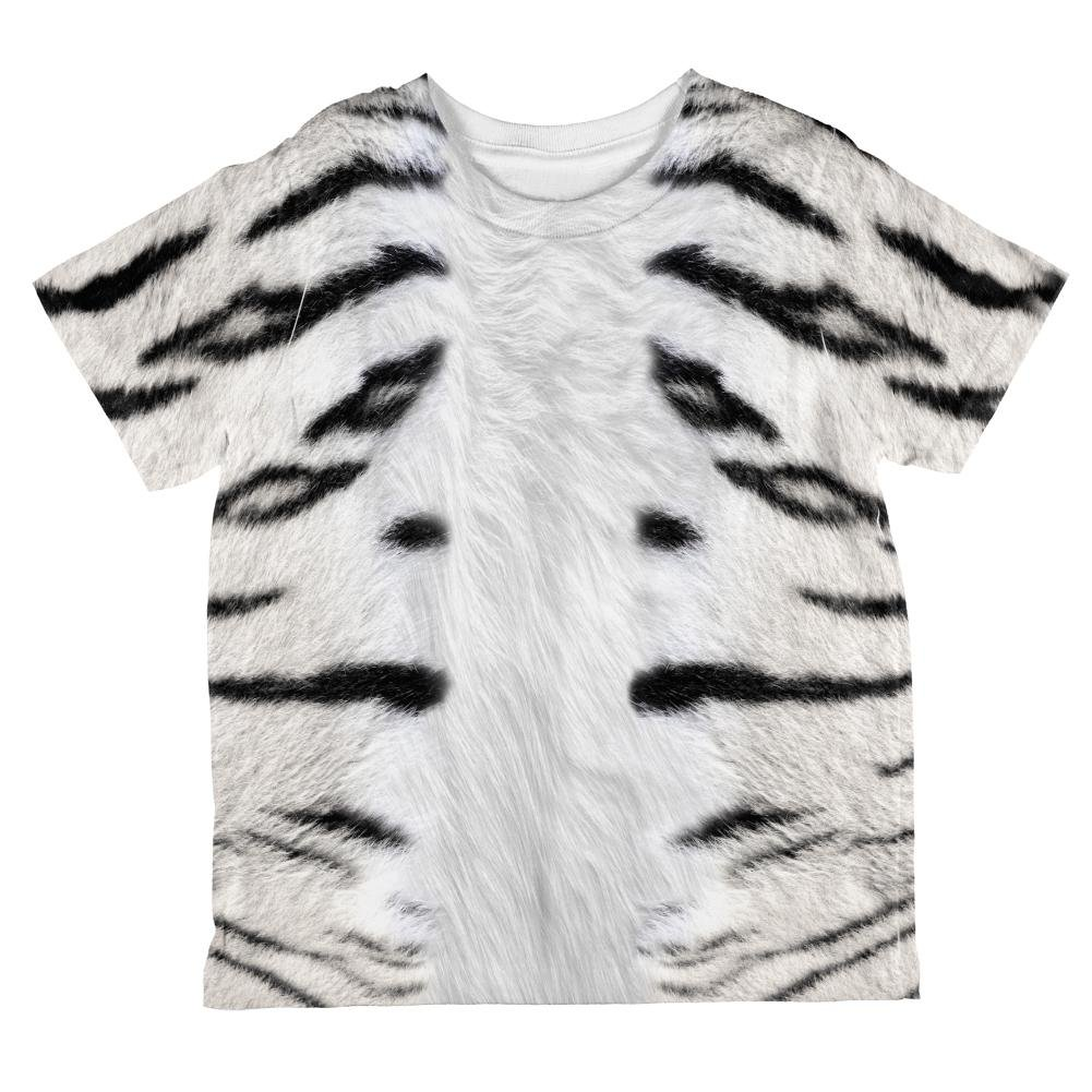 Halloween White Tiger Costume All Over Toddler T Shirt