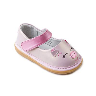 Wee Squeak Girls Animal Toddler Squeaky Shoes with Removable Squeaker   Sneakers