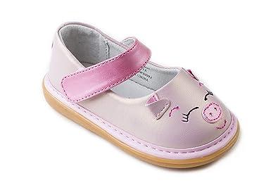 6a14159d7a6 Amazon.com: Wee Squeak Piggy Toddler Squeaky Shoe: Shoes