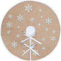 N&T Falda redonda de copo de nieve Santa