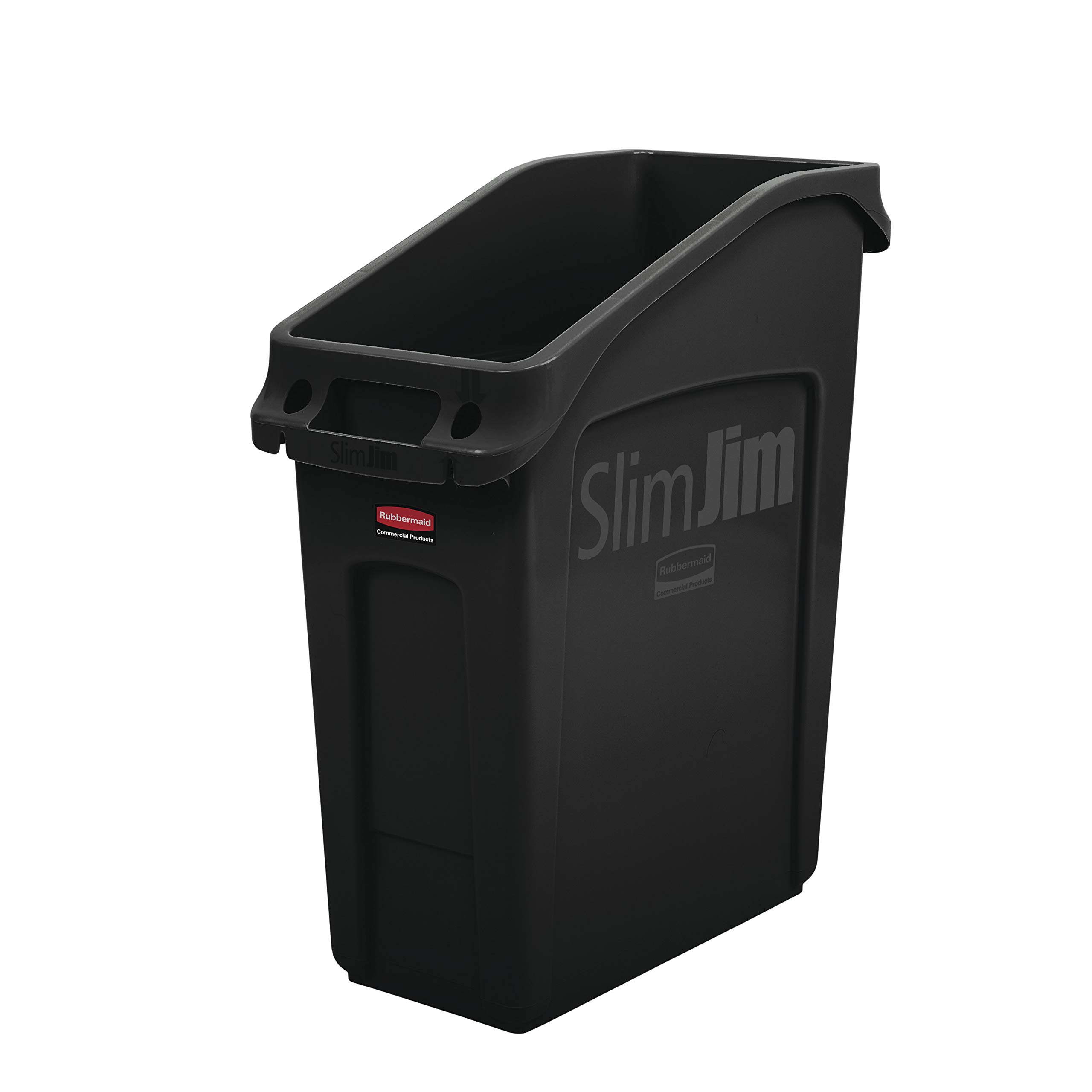 Rubbermaid Commercial Products 2026696 Slim Jim Under-Counter Trash Can with Venting Channels, 13 Gallon, Black by Rubbermaid Commercial Products