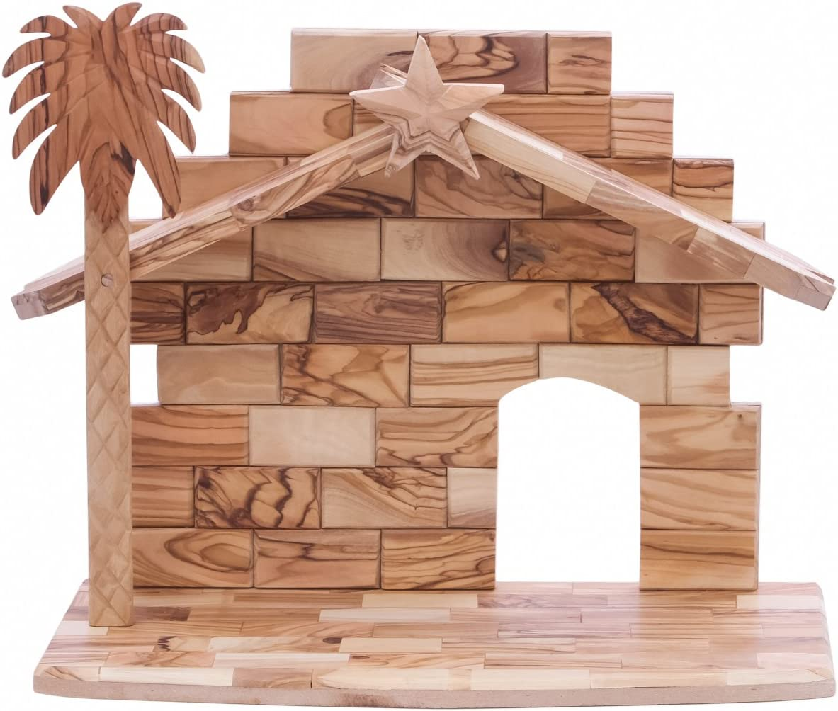 Zuluf Large Stable Olive Wood Nativity – NAT018
