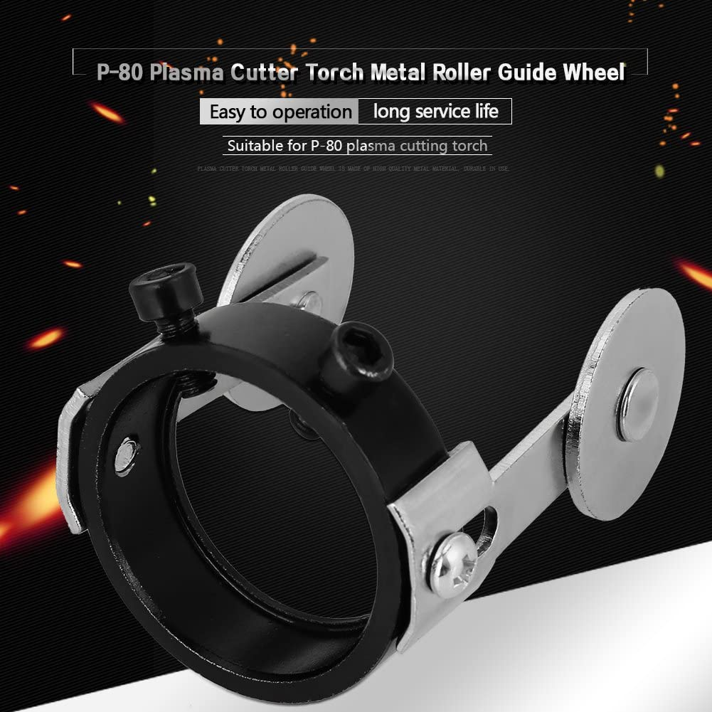 P80 Metal Roller Guide Wheel with Two Screw Positioning Air Plasma Cutting Cuter Torch