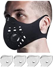 Mask with N99 Carbon Filters Respirator for Pollen Pollution, Dust, Ideal for Woodworking, Prevents Allergies. for The Oral Region Half mask Neoprene Material Washable and Reusable for Powder