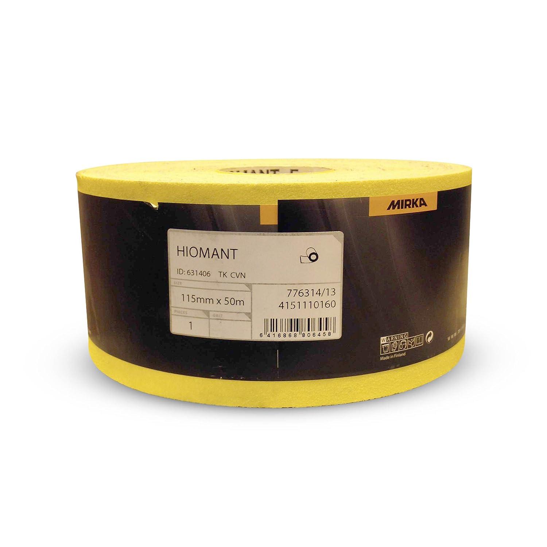 Mirka Hiomant Abrasive Sandpaper, 50m Roll, P120 Grit 4151110112