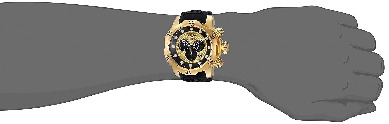 Invicta Men s Venom Stainless Steel Analog-Quartz Watch with Silicone Strap, Black, 26 Model 20443