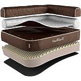 Knuffelwuff - Un lit d'angle pour chien orthopédique - Arizona 100 x 70cm marron