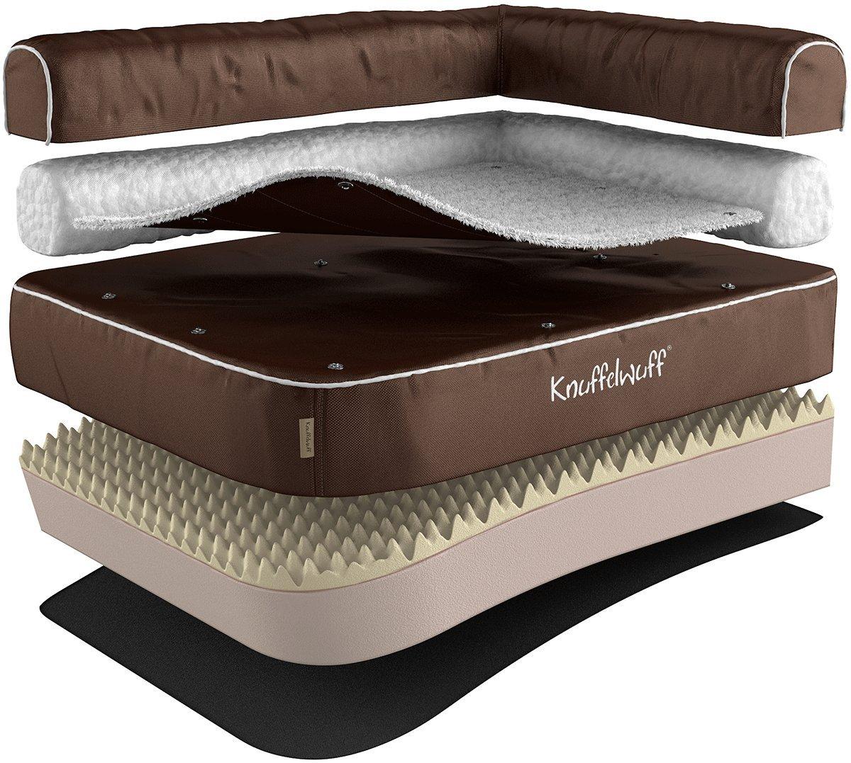Knuffelwuff Panier orthopédique pour chien lit pour chien Arizona marron 100 x 70cm 13871-003