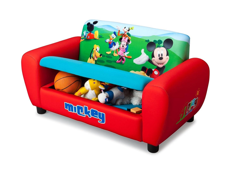 delta children canap rembourr avec rangements intgrs mickey amazonfr cuisine maison - Fauteuil Mickey