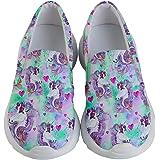 3240cd85 PattyCandy Autumn Woodland Animals Unicorns Forest & Christmas Kids  Lightweight Slip Ons Shoes,Size: