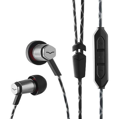 V-MODA Forza Metallo - Auriculares in-Ear con Control Remoto de 3 Botones