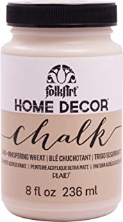 product image for FolkArt Home Decor Chalk Furniture & Craft Paint in Assorted Colors, 8 ounce, Whispering Wheat