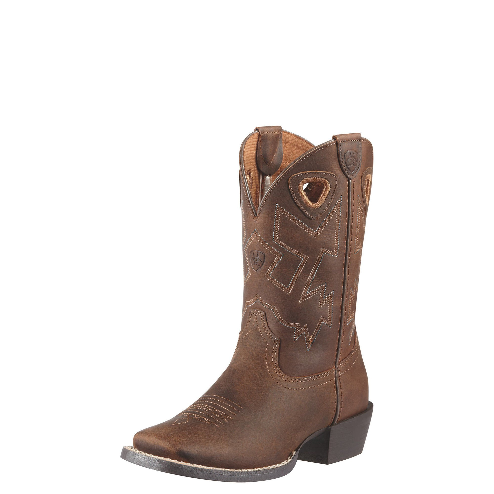 Kids' Charger Western Boot,Distressed Brown,5.5 M US Big Kid by Ariat (Image #1)