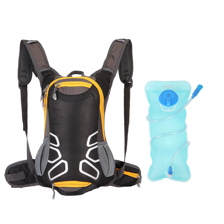 Tisomen Cycling Backpack 2L BPA Free Leak Proof Water Bladder-Hiking Backpack Riding Daypack Outdoor Sports, Running, Biking,Camping, Travelling Travelling (Black)